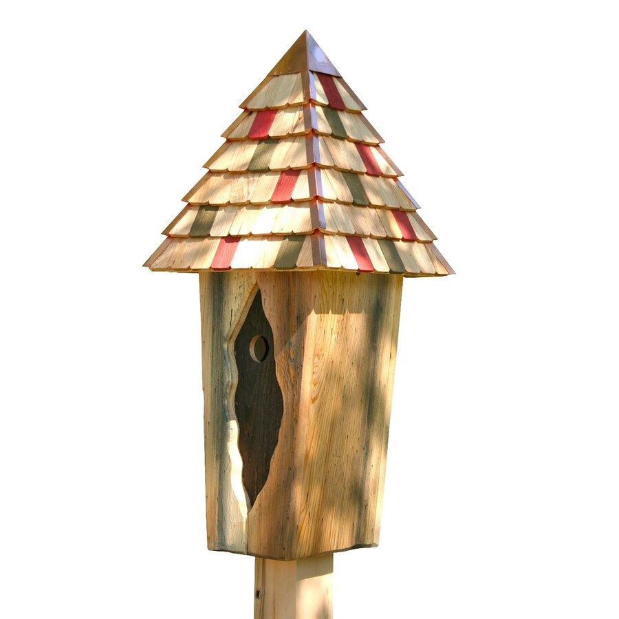Heartwood 12-in W x 32-in H x 12-in D Natural Bird House