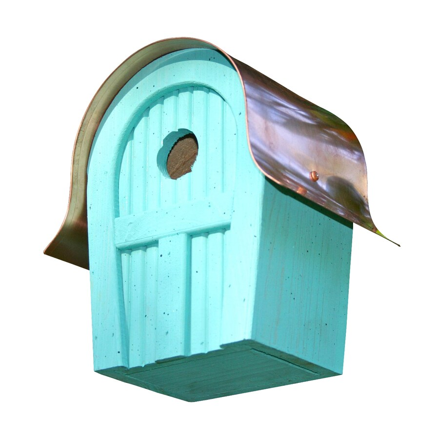 Heartwood 7-in W x 10-in H x 6-in D Turquoise Bird House
