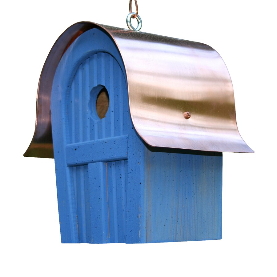 Heartwood 7-in W x 10-in H x 6-in D Blue Bird House