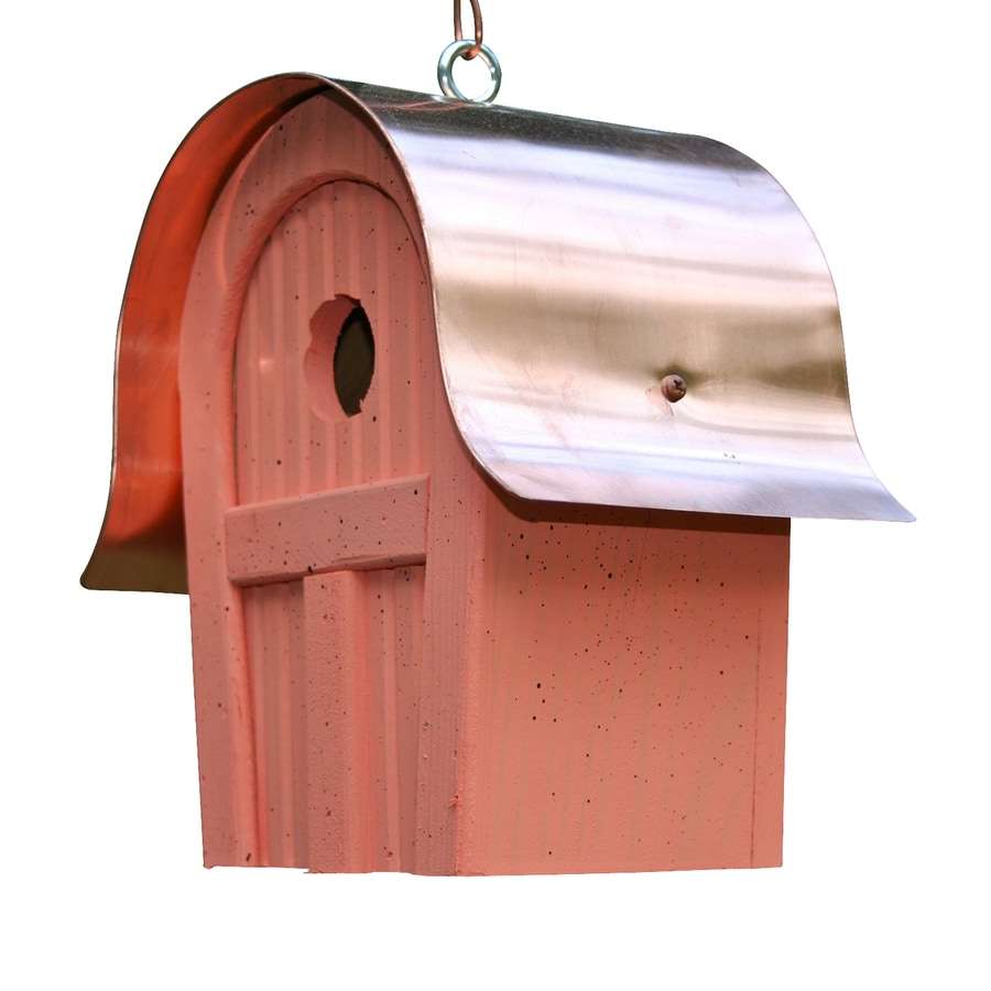 Heartwood 7-in W x 10-in H x 6-in D Salmon Bird House