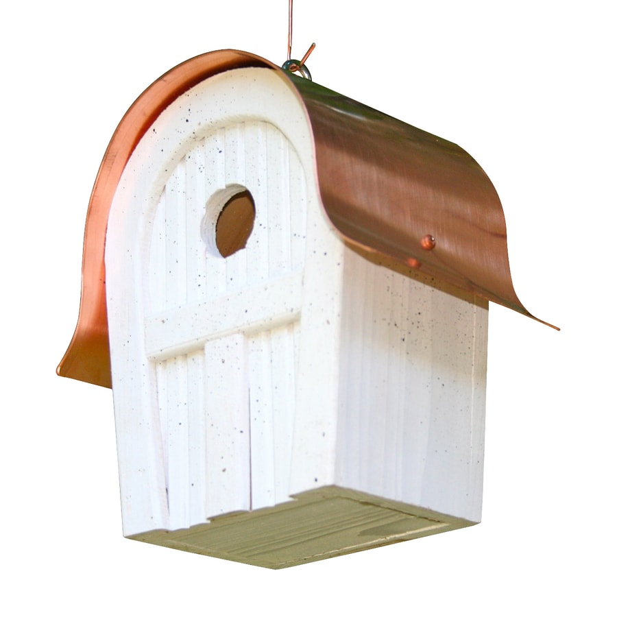 Heartwood 7-in W x 10-in H x 6-in D White Bird House