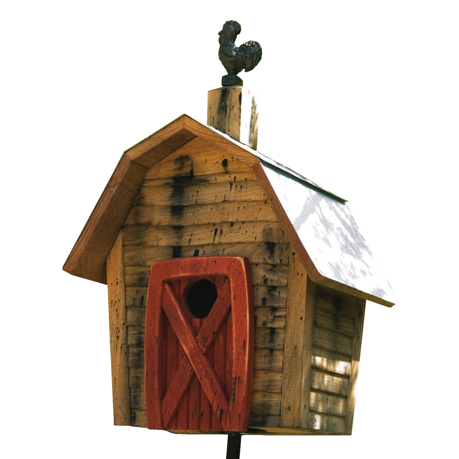 Heartwood 11-in W x 17-in H x 8-in D Natural Bird House