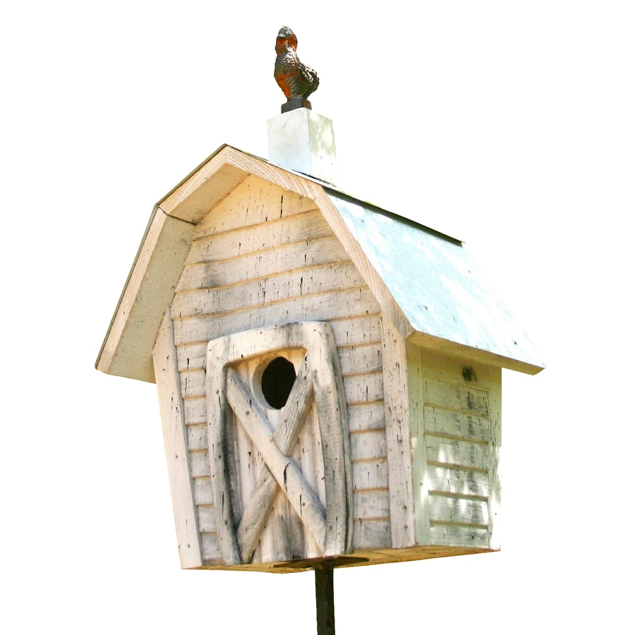 Heartwood 11-in W x 17-in H x 8-in D White Bird House