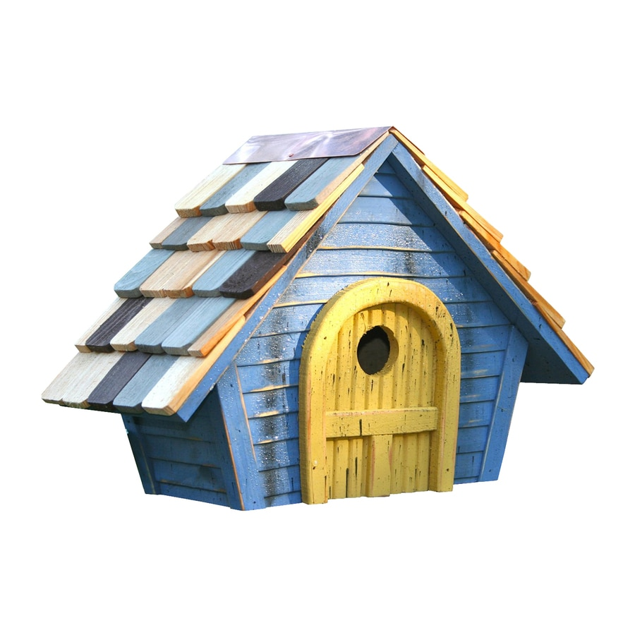 Heartwood 15-in W x 11-in H x 8-in D Blue Bird House
