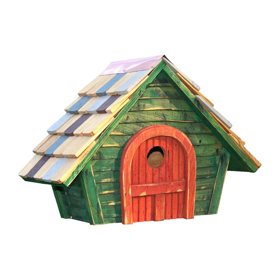 Heartwood 15-in W x 11-in H x 8-in D Green Bird House