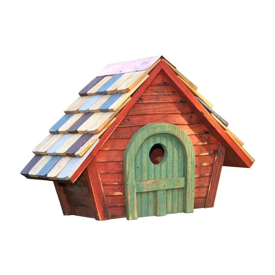 Heartwood 15-in W x 11-in H x 8-in D Redwood Bird House