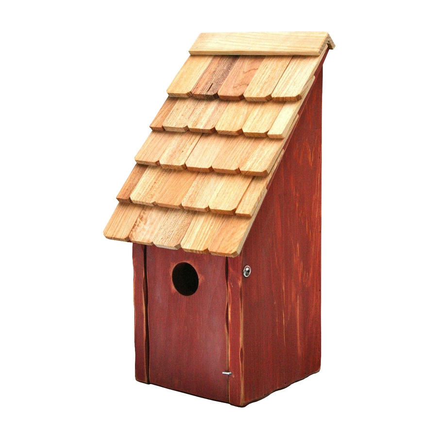 Heartwood 8-in W x 16-in H x 8-in D Redwood Bird House
