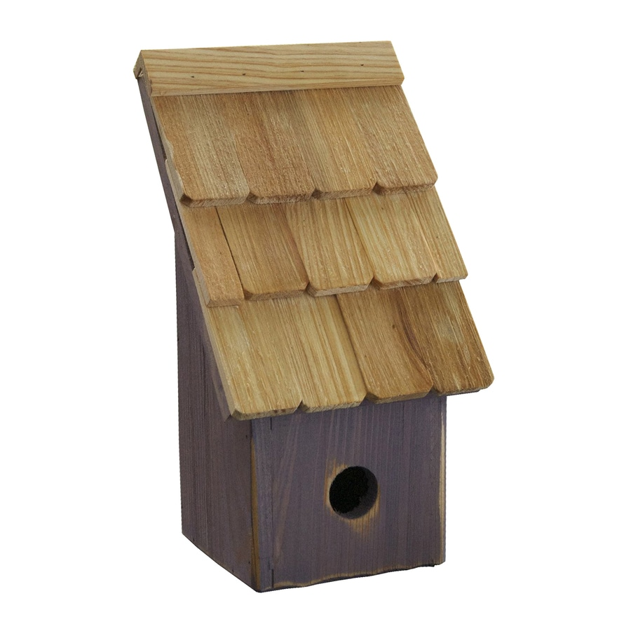 Heartwood 6-in W x 11-in H x 5-in D Grape Bird House