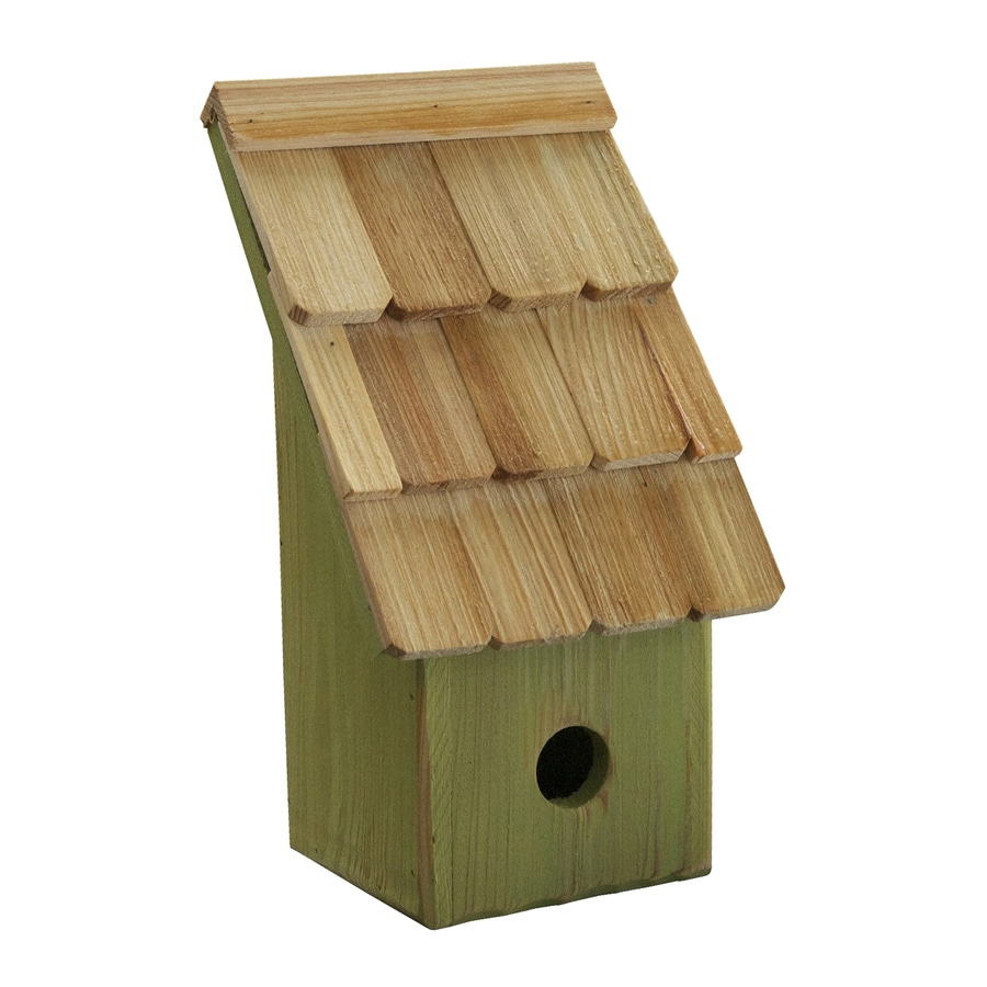 Heartwood 6-in W x 11-in H x 5-in D Green Apple Bird House