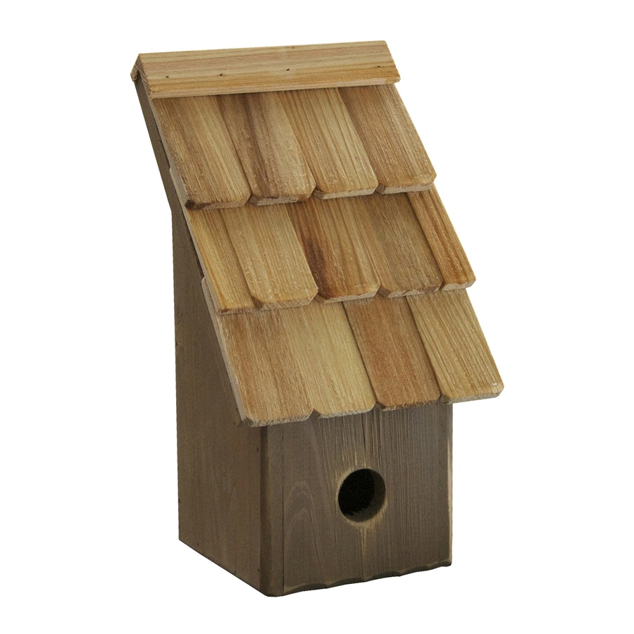 Heartwood 6-in W x 11-in H x 5-in D Fig Bird House