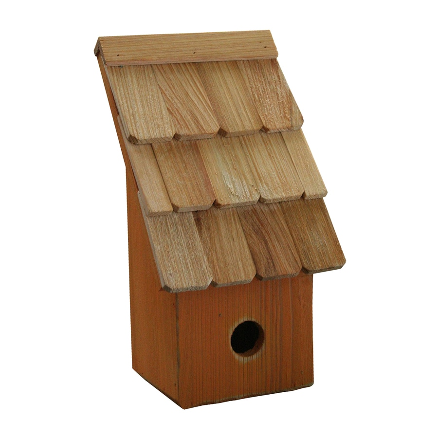 Heartwood 6-in W x 11-in H x 5-in D Pumpkin Bird House