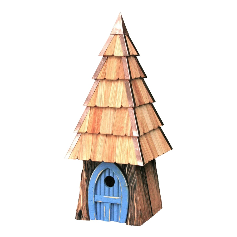 Heartwood 9-in W x 23-in H x 9-in D Blue Bird House