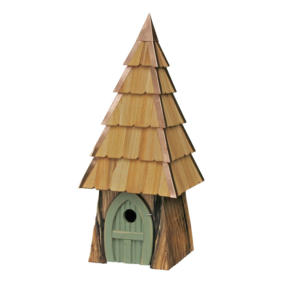 Heartwood 9-in W x 23-in H x 9-in D Moss Green Bird House