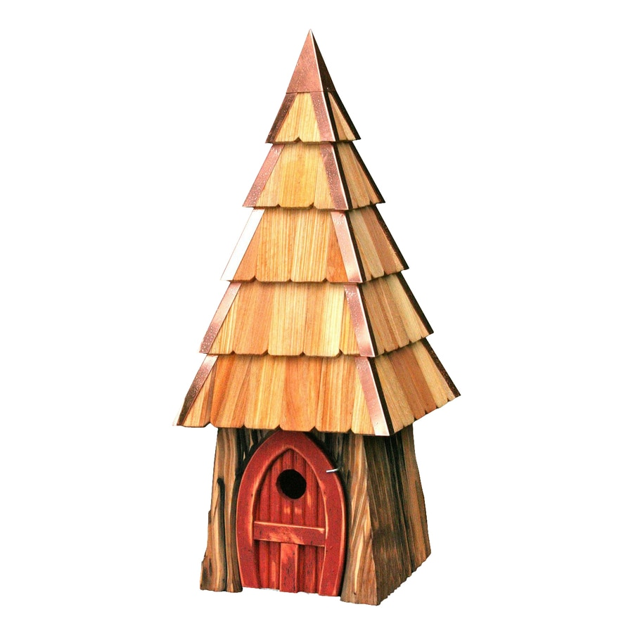Heartwood 9-in W x 23-in H x 9-in D Redwood Bird House