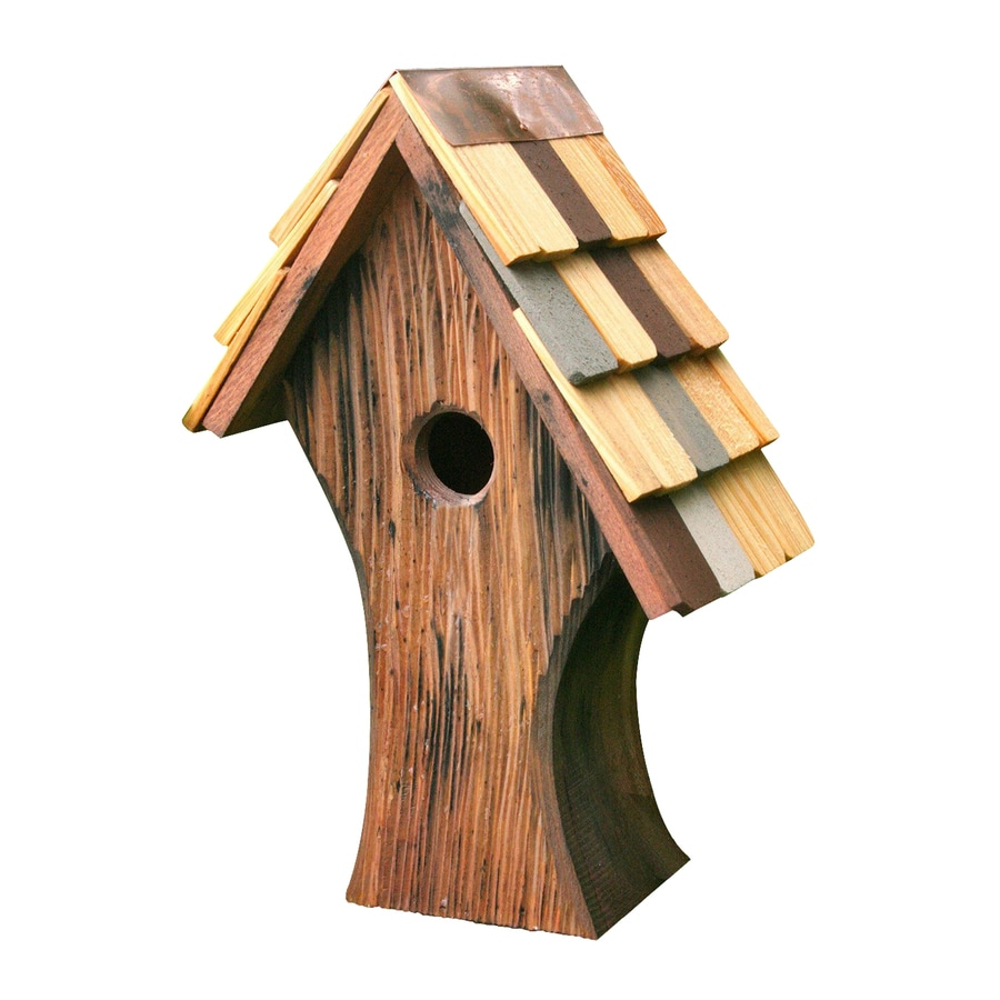 Heartwood 10-in W x 15-in H x 6-in D Natural Bird House