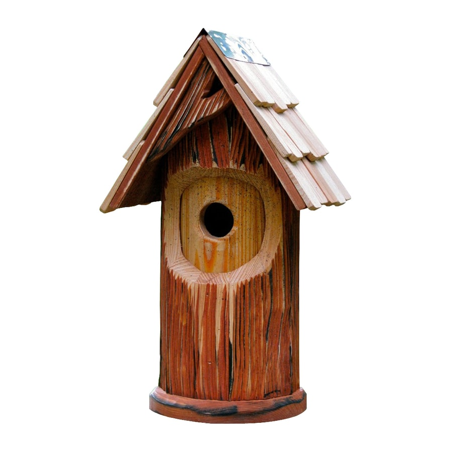 Heartwood 9-in W x 16-in H x 8-in D Natural Bird House