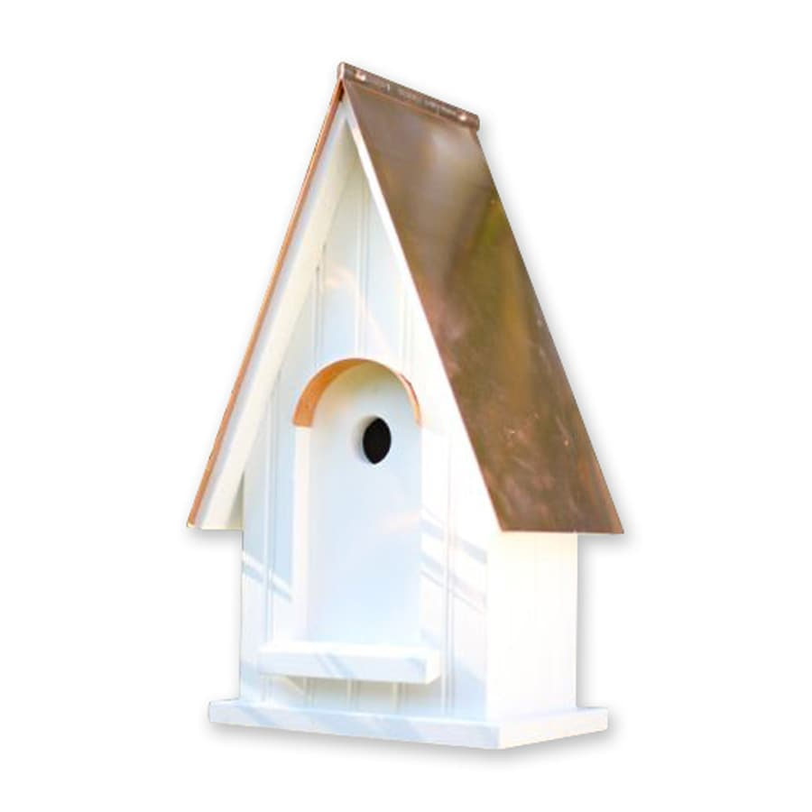 Heartwood 11-in W x 20-in H x 8-in D White Bird House