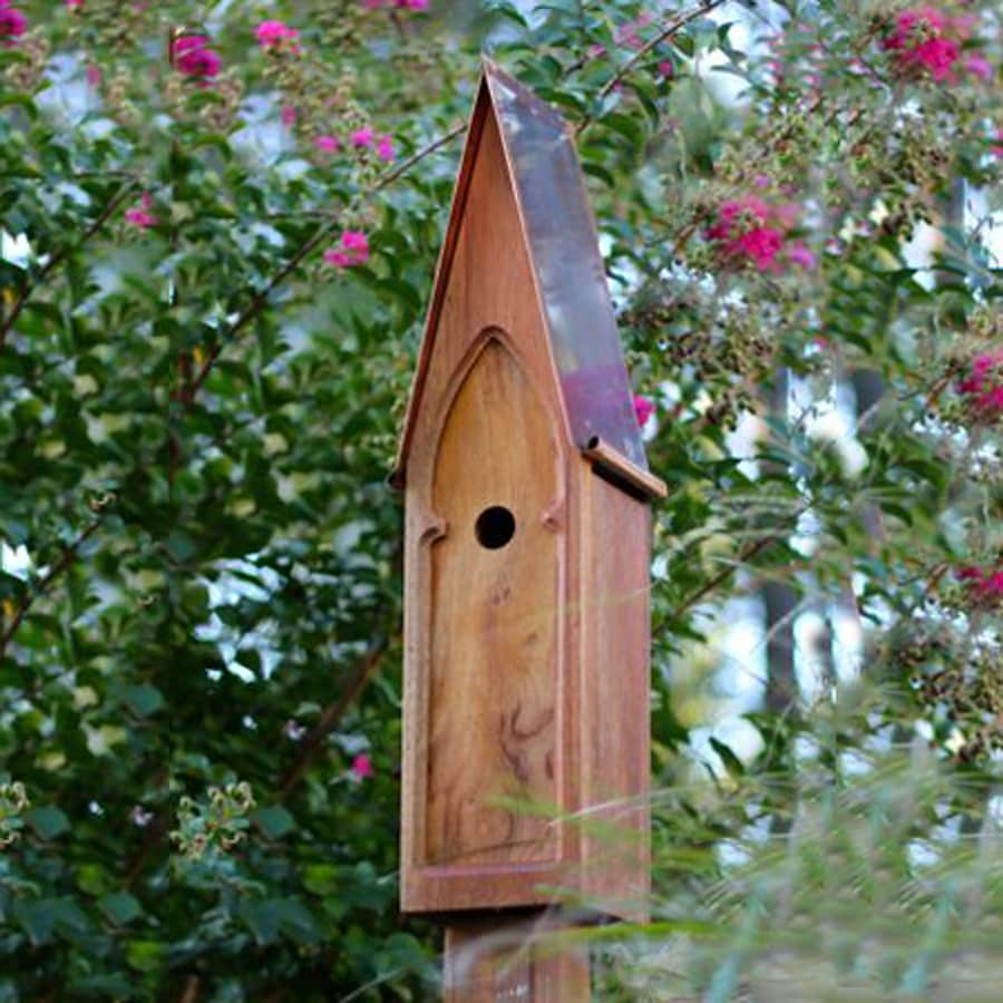 Heartwood 8-in W x 27-in H x 7-in D Natural Bird House