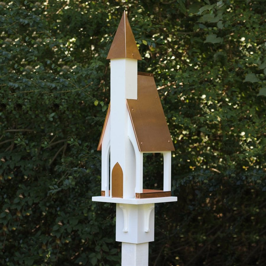 Heartwood Mount Manna Copper/PVC Squirrel-Resistant Platform Bird Feeder