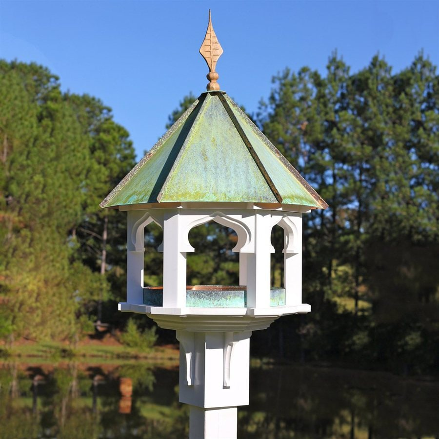 Heartwood Carousel Cafe Copper/PVC Squirrel-Resistant Platform Bird Feeder