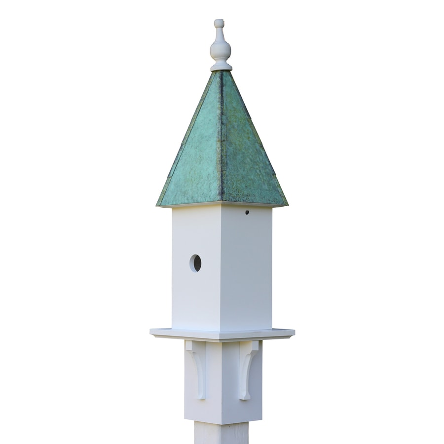 Heartwood 8-in W x 34-in H x 8-in D White Bird House