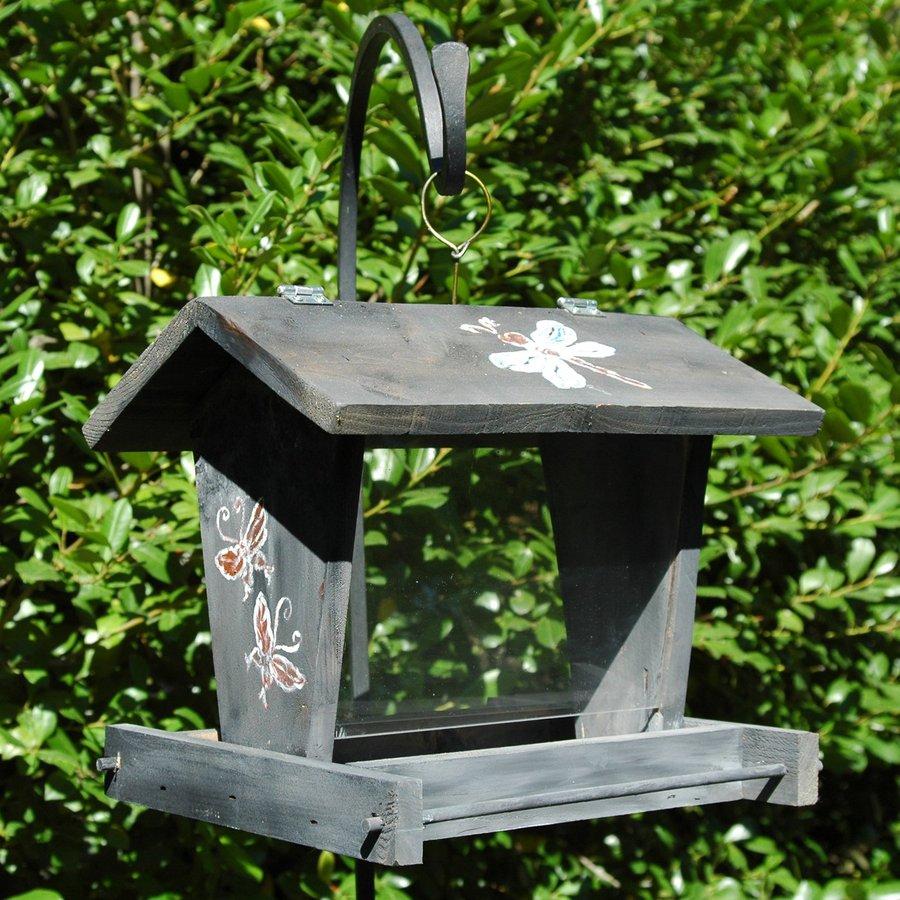 Wilderness Series Products Blue Diner Wood Hopper Bird Feeder