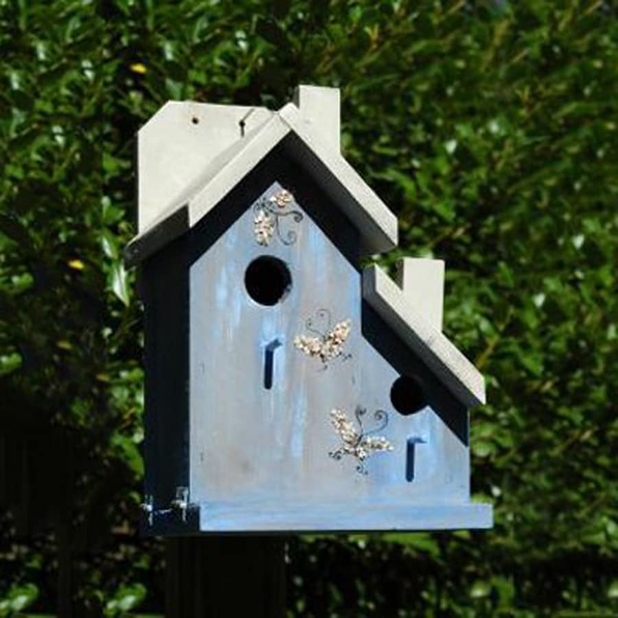 Wilderness Series Products 9-in W x 14-in H x 9-in D Antique Blue Bird House
