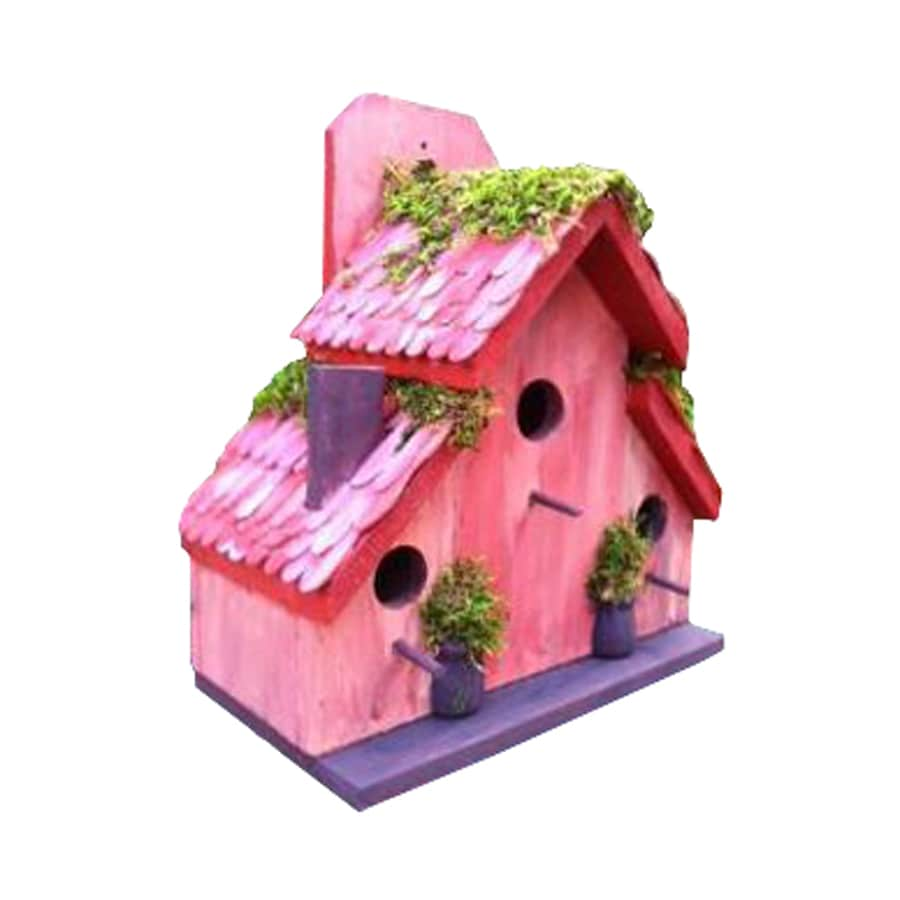 Wilderness Series Products 14-in W x 14-in H x 8-in D Rose/Lavender Bird House