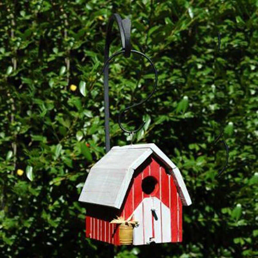 Wilderness Series Products 8-in W x 8-in H x 7-in D Red/White Bird House