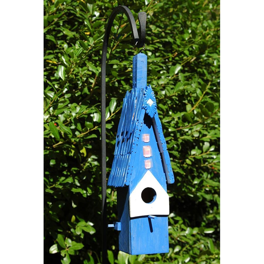 Wilderness Series Products 7-in W x 19-in H x 5-in D Blue Sapphire Bird House