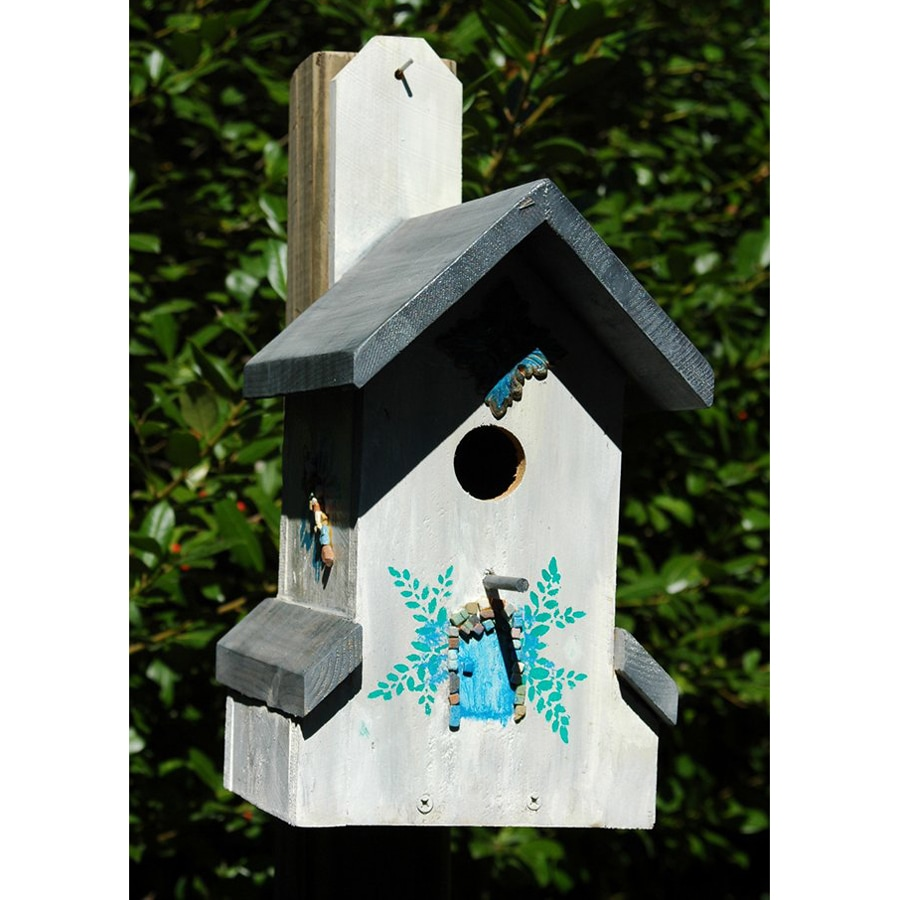 Wilderness Series Products 11-in W x 17-in H x 8-in D White/Grey Bird House