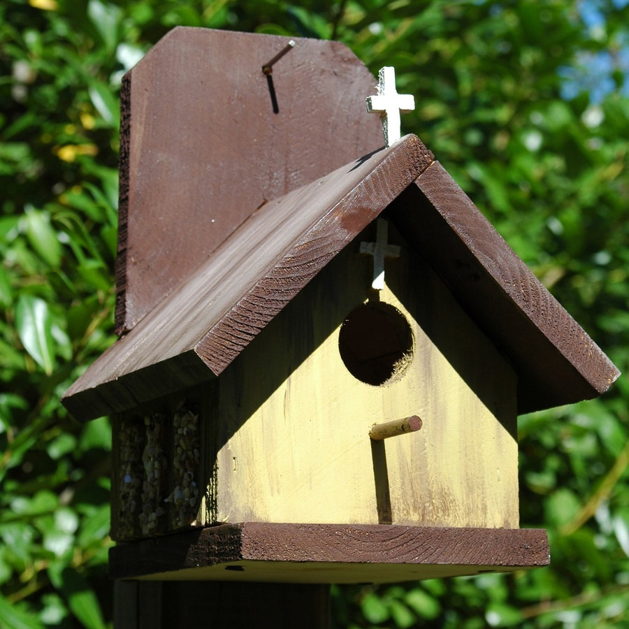Wilderness Series Products 8-in W x 10-in H x 8-in D Yellow/Brown Bird House