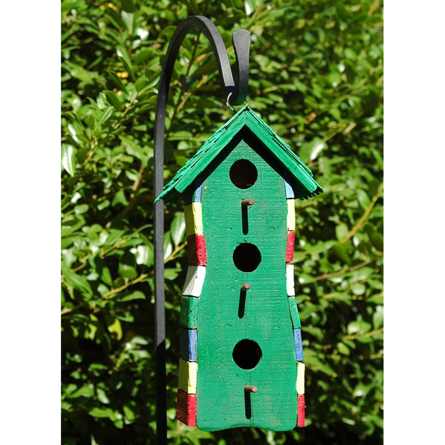 Wilderness Series Products 7-in W x 13-in H x 5-in D Green Bird House