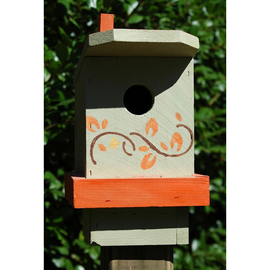 Wilderness Series Products 9-in W x 10-in H x 7-in D Orange/Light Tan Bird House