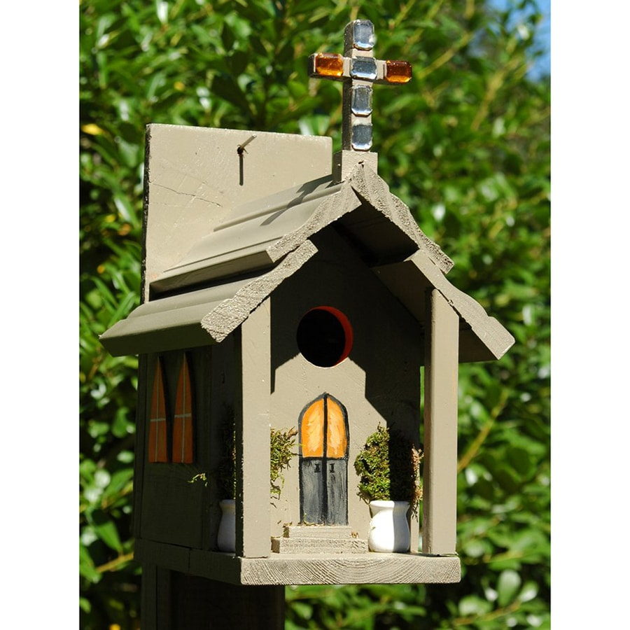 Wilderness Series Products 11-in W x 14-in H x 8-in D Tan Bird House