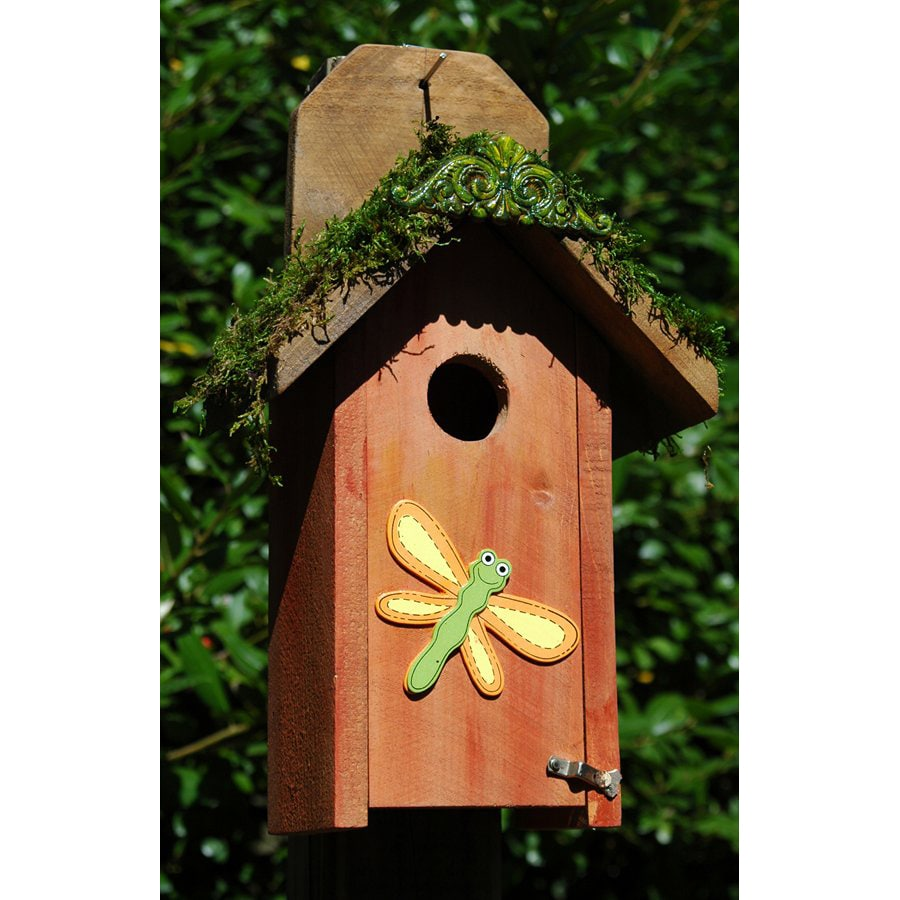 Wilderness Series Products 8-in W x 15-in H x 6-in D Orange Bird House