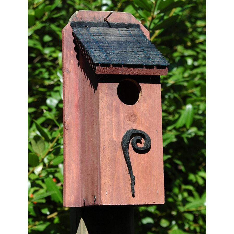 Wilderness Series Products 6-in W x 12-in H x 6-in D Rust/Black Bird House