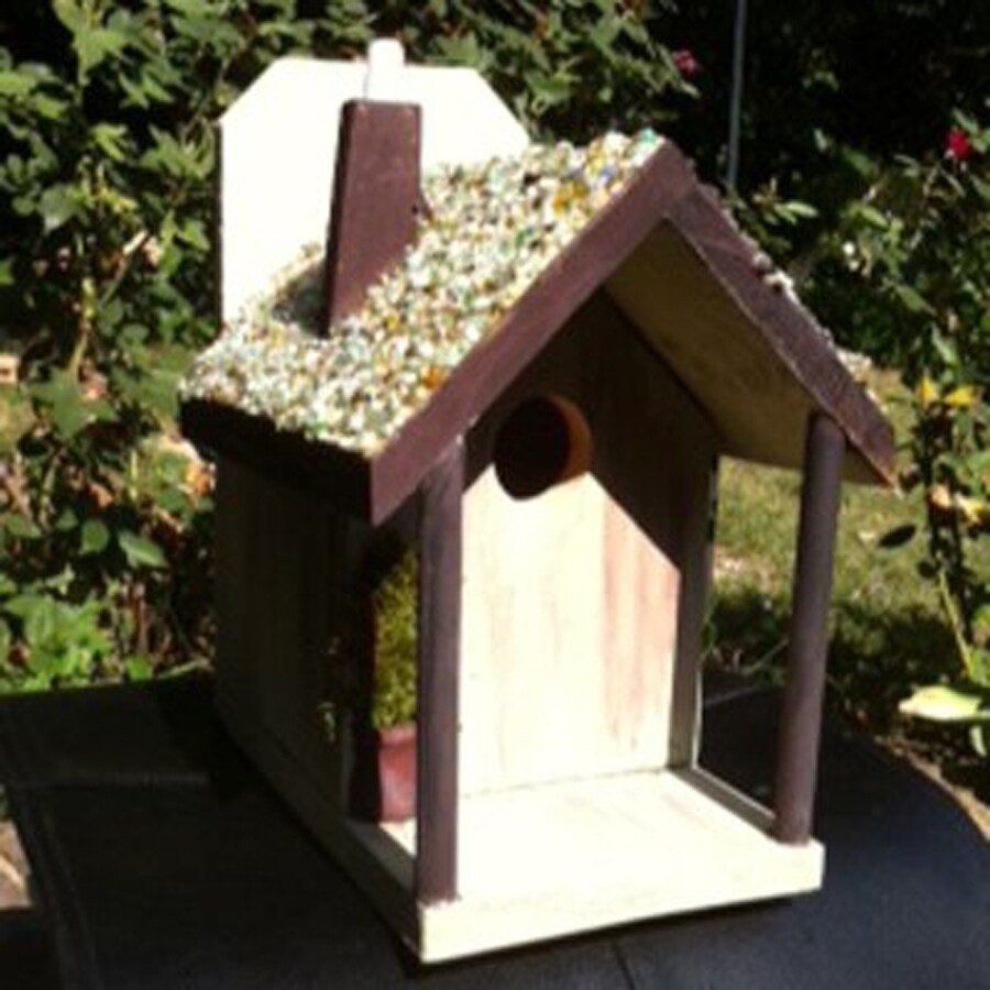 Wilderness Series Products 10-in W x 12-in H x 5.5-in D White/Brown Bird House