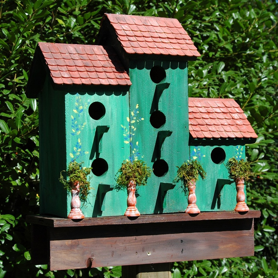 Wilderness Series Products 20-in W x 21-in H x 10-in D Green/Rust Bird House