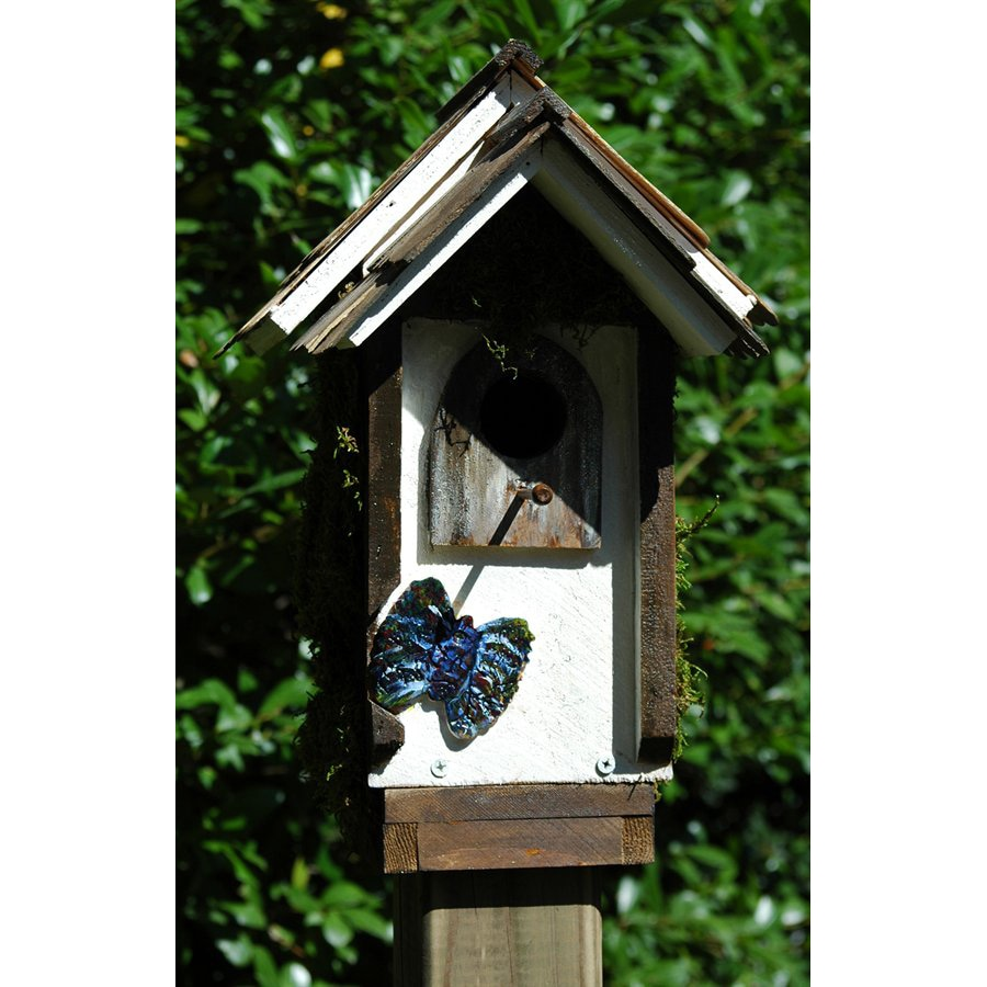 Wilderness Series Products 9-in W x 15-in H x 9-in D White/Dark Brown Bird House