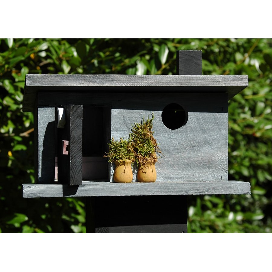 Wilderness Series Products 12-in W x 12-in H x 7-in D Grey/Black Bird House
