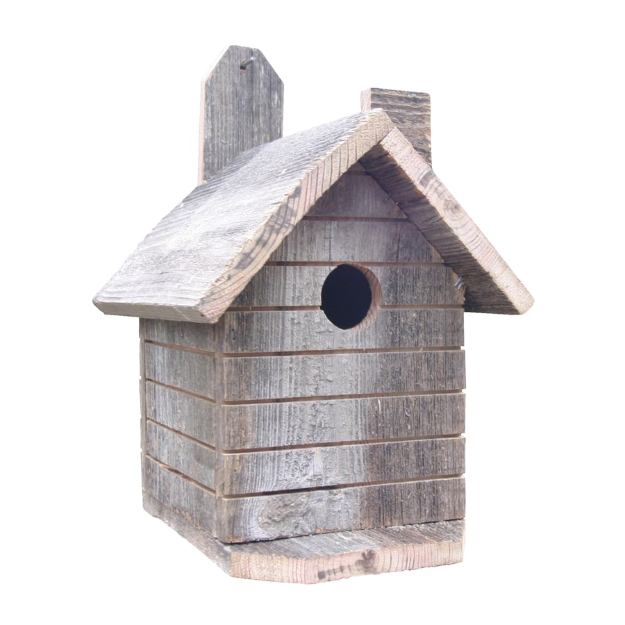 Wilderness Series Products 8-in W x 13-in H x 9-in D Natural Bird House