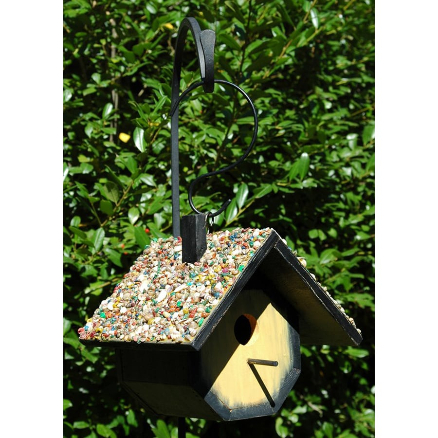 Wilderness Series Products 10-in W x 9-in H x 10-in D Yellow/Black Bird House