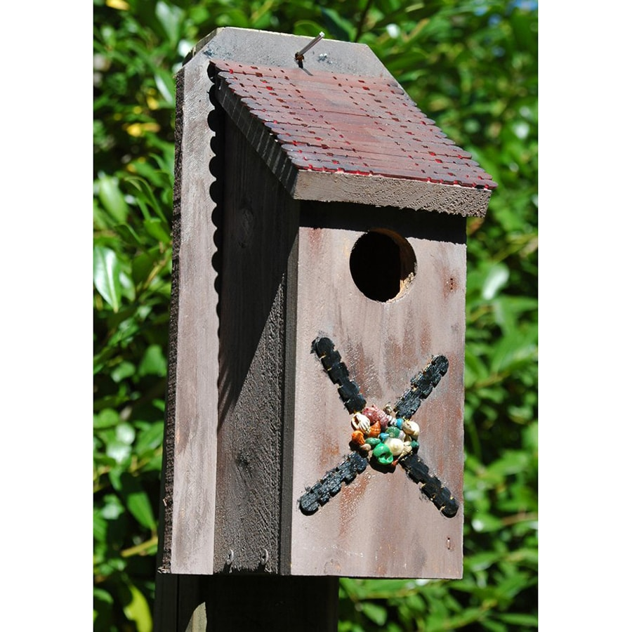 Wilderness Series Products 6-in W x 12-in H x 6-in D Rusty Beige Bird House