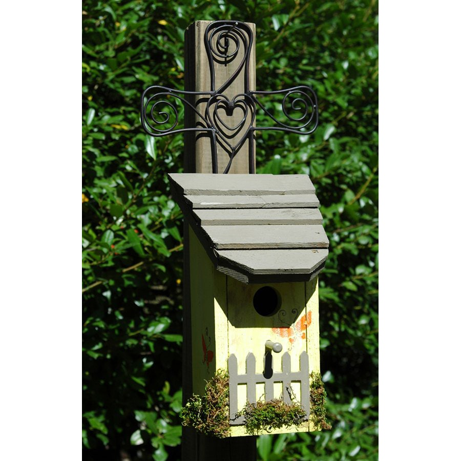 Wilderness Series Products 10-in W x 21-in H x 8-in D Light Tan/Taupe Bird House