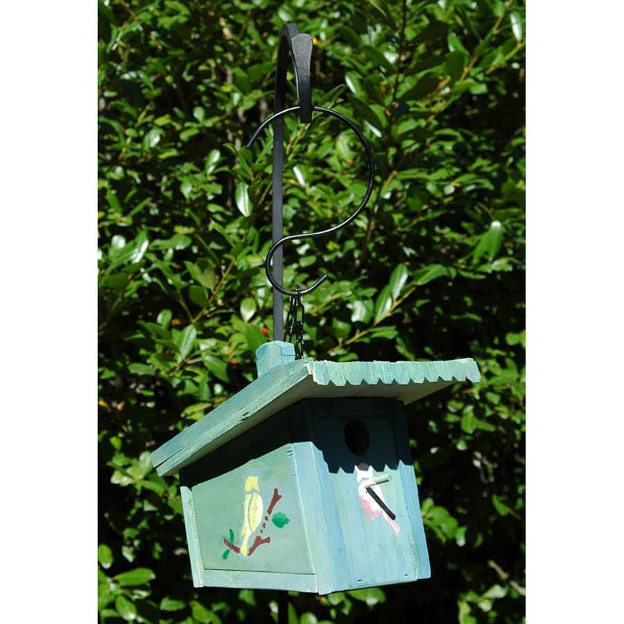 Wilderness Series Products 9-in W x 8-in H x 11-in D Aqua Bird House