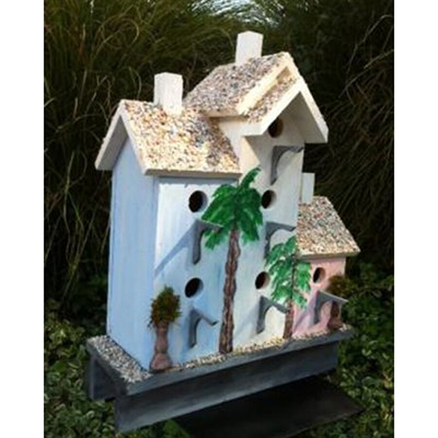 Wilderness Series Products 20-in W x 21-in H x 10-in D Blue/White/Pink Bird House