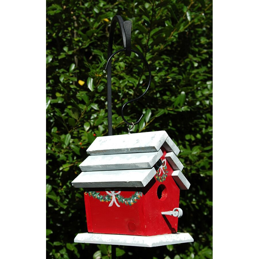 Wilderness Series Products 9-in W x 9-in H x 6-in D Red/White Bird House
