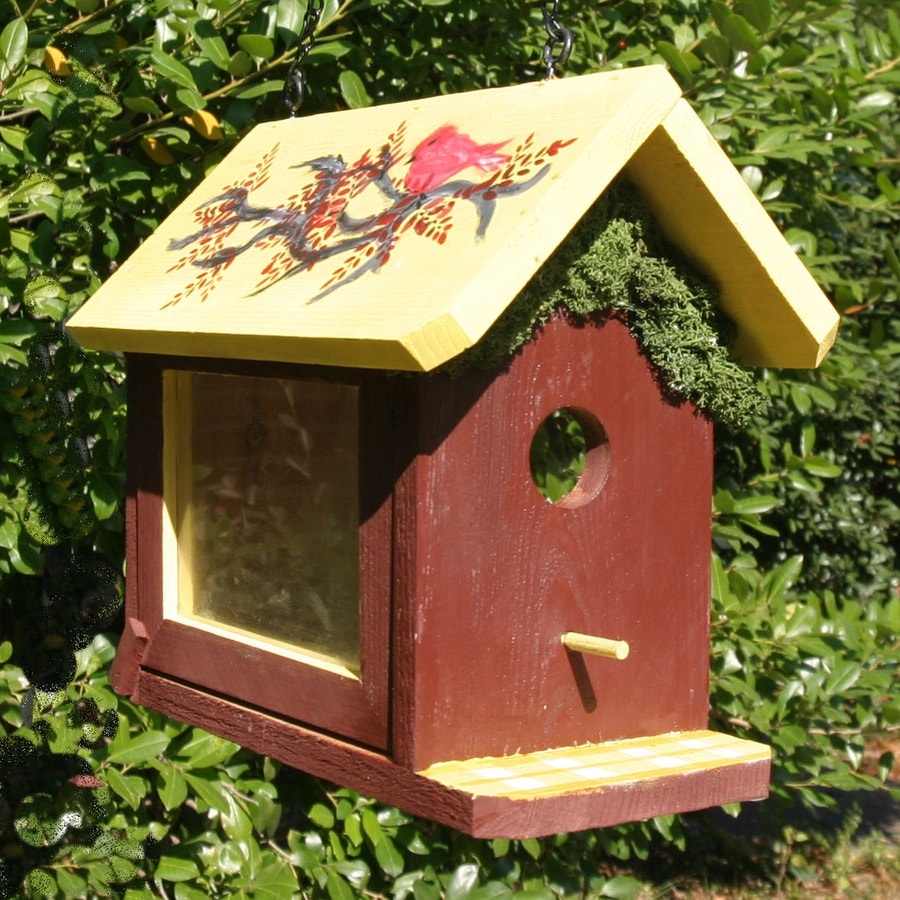 Wilderness Series Products 7-in W x 9-in H x 8-in D Rust/Yellow Bird House