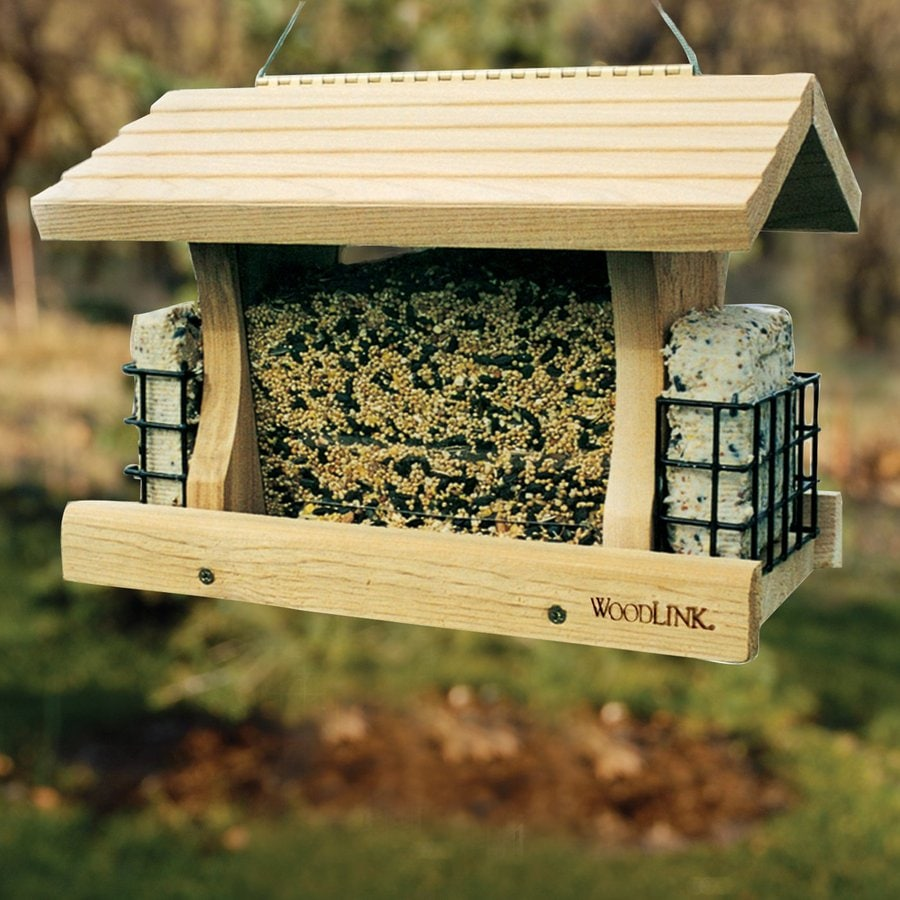 Shop Woodlink Deluxe Cedar Hopper Bird Feeder At Lowes Com